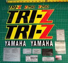 1985 85' Yamaha 16pc Yellow/Black TRI-Z 250 Decals Graphics Stickers ATV