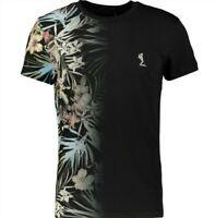 RELIGION Men's Hawaiian Black T- shirt