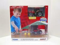 NEW Ertl TOMY Case IH 1/32 Magnum 305 Tractor & Shed Everyday Playset
