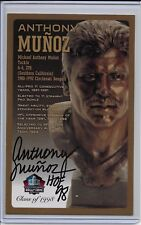 Anthony Munoz Pro Football HOF Autographed Bronze Bust Card 100/150