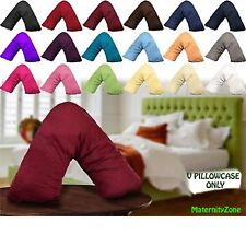 100% COTTON V SHAPED PILLOW CASE COVER - PREGNANCY ORTHOPAEDIC SUPPORT NURSING