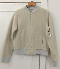 Ladies GAP Cream Sherpa Zip Front Fleece Jacket Size Medium - BNWT