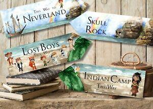 Set of 4 Peter Pan Neverland Party Decoration Arrows