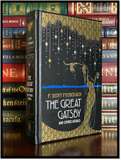The Great Gatsby & Other Work by F. Scott Fitzgerald New Leather Bound Hardback