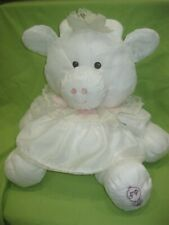 "Vintage Fisher Price 1986 Puffalump White Cow in Heart Dress 17"" Plush #8001"