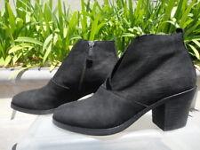 Eileen Fisher MURPHY Ankle Boot Bootie, Soft Black Nubuck Wmn's US Sz 7