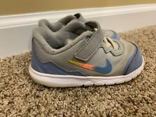 Toddler GIRL: Nike Flex Experience 4 Shoes, Blue/Gray/Ombré - Size 8C 749825-048