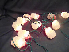 Christmas string lights 1 set Santa 10 mini lights frosted look indoor use only