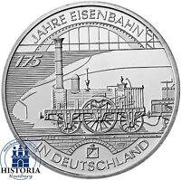 Deutschland 10 Euro Silber 2010 bfr 175 Jahre Deutsche Eisenbahn in Münzkapsel