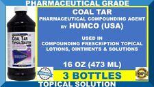 3 Humco Coal Tar 20% Topical Solution Pharma Grade Prescription Strength 10/2021