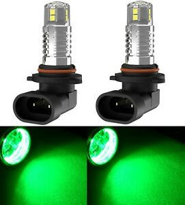 LED 30W 9005 HB3 Green Two Bulbs Head Light High Beam Replacement Show OE