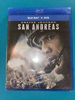 San Andreas (Blu-ray/DVD, 2015, 2-Disc Set) BRAND NEW