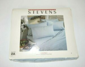 Twin Extra Long Fitted Sheet No Iron Percale Blue 39 x 80 in