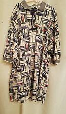 Reebok Golf Mens Blue Cream 100% Cotton Short Sleeve 4 Button Polo Shirt Large