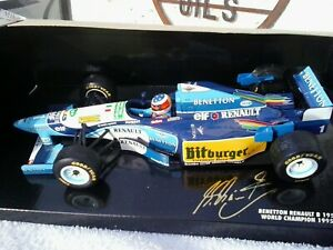 Pauls Model Art 1:18 Benetton Renault B 195 951826 GP EUROPE 1995 rain Tyres