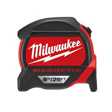 Milwaukee 48227225 8m/26ft Measuring Tape with Magnetic Hook and Architect Scale