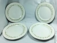 "4 Sheffield Fine China Elegance Bread and Butter Plates 6 3/8"" Free Shipping"