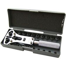 Watch Back Case Opener Wrench Screw  Remover Tool Kit Set & Storage Case NEW