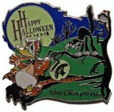 BLACK CAT SCARES DONALD In TIGER Costume TRICK OR TREAT Halloween LE DISNEY PIN