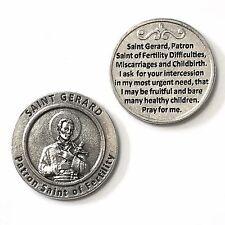 Saint St Gerard Pocket Token Patron of Fertility Birth Pregnancy Prayer Coin