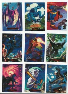 Marvel Masterpieces 1994 lot of 92 parallel foil signature cards Fleer