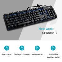 PHILIPS 104-Key Adjustment LED Backlit Wired USB Multimedia PC Gaming Keyboard