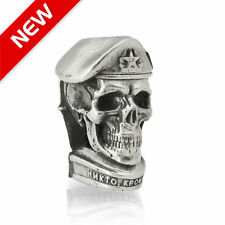 Custom Russian VDV Skull Bead for Paracord Projects Bracelet Knife Lanyard Beads
