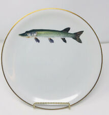 Heinrich H & G Bavaria Fish Dinner plate Hand painted Signed by Artist