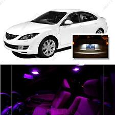 For Mazda 6 2003-2008 Pink LED Interior Kit + Xenon White License Light LED