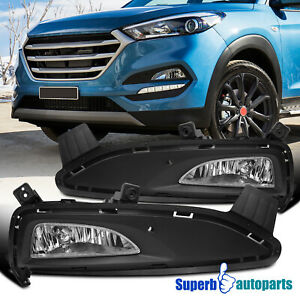 For 2016-2018 Hyundai Tucson Bumper Driving Fog Lights Replacement Pair+Bulbs