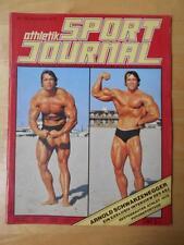 athletik SPORT JOURNAL bodybuilding muscle magazine/ARNOLD SCHWARZENEGGER #56