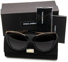 NEW D&G Dolce & Gabbana DG4332 501/8G BLACK /GREY GRAD SUNGLASSES 57mm Italy