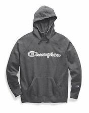Women's Hoodie Sweatshirt Champion Powerblend Fleece Pullover Chainstitch Logo