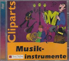 Cliparts CD - Musikinstrumente