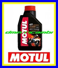 1 Litro Olio Motore 4T Moto MOTUL 7100 10W40 100% Sintetico Api SN Jaso MA2