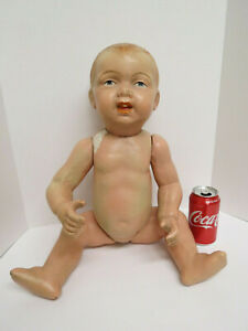 """Antique 24""""  all composition baby doll unmarked 1920's"""