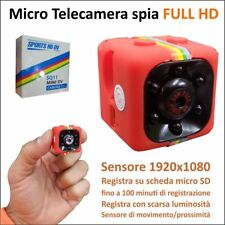MINI TELECAMERA CUBO CUBE FULL HD 1920x1080 SENSORE MOVIMENTO VIDEO TRAPPOLA