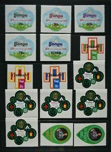 TONGA, a collection of 34 self adhesive stamps for sorting, MM condition.