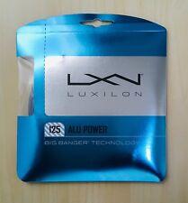 LUXILON Big Banger ALU Power Tennis Racquet String 16L/1.25mm 40ft/12.2m Silver