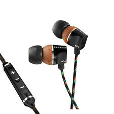 House of Marley Zion Midnight In-ear Headphones 3button Mic for iPhone Emfe023mi
