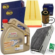 FILTER SET PAKET+CASTROL 5W30 1.6+2.0 TDI VW TOURAN PASSAT 3C 365 GOLF VI V