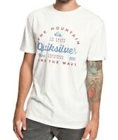 QUIKSILVER MENS T SHIRT.DROP IN DROP OUT COTTON SHORT SLEEVED TOP TEE 9S 5295 WB