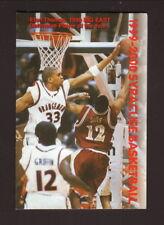 Syracuse Orangemen--Etan Thomas--1999-00 Basketball Pocket Schedule