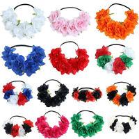 Women Flower Wreath Garland Hair Band Headband Wedding Headwear Photo Props Gift