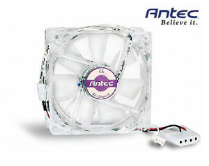 Brand New Antec 80 MM SmartCool Case Fan with 3-pin Connector and 4-Pin Adapter