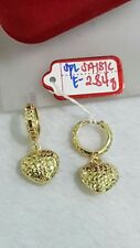 Gold Authentic 18k saudi gold earrings,,