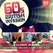 5 CLASSIC ALBUMS: 60S BRITISH INVASION, THE HOLLIES, THE ANIMALS+  5 CD NEW!