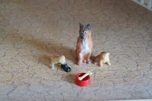 chien et chiots   LUNDBY, années 80, maison poupées