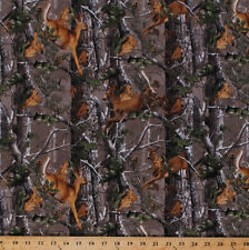 Flannel Realtree Deer Forest Woods Leaves Camouflage Fabric By the Yard D278.29