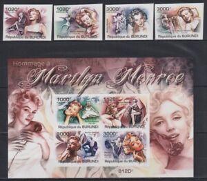 A839. Burundi - MNH - Famous People - Marilyn Monroe - 2011 - Imperf